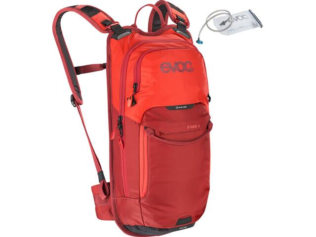 EVOC Stage Technical Performance Pack 6l + Bladder 2l orange/chili red
